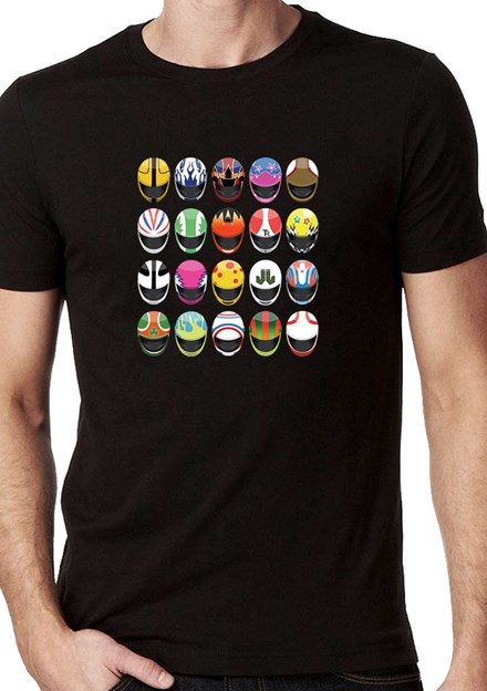 Modern Helmets T-Shirt Black - click to enlarge