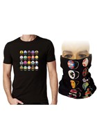 Modern Helmets T-Shirt Black with Free Neckwarmer