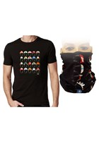 Classic Helmets T-Shirt Black with Free Neckwarmer