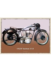 Norton 1929 CSI Metal Sign