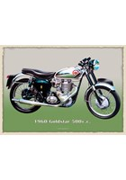 BSA Goldstar 500cc 1960 Metal Sign