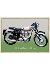 BSA Goldstar 500cc 1960 Metal Sign