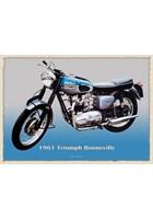 Triumph Bonneville 1961 Metal Sign