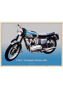 Triumph Bonneville 1961 Metal Sign