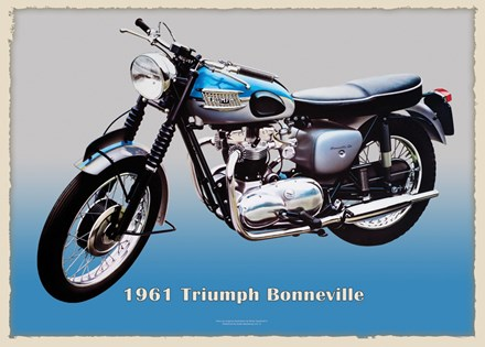Triumph Bonneville 1961 Metal Sign - click to enlarge
