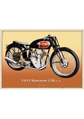Excelsior Manxman 250cc Metal Sign