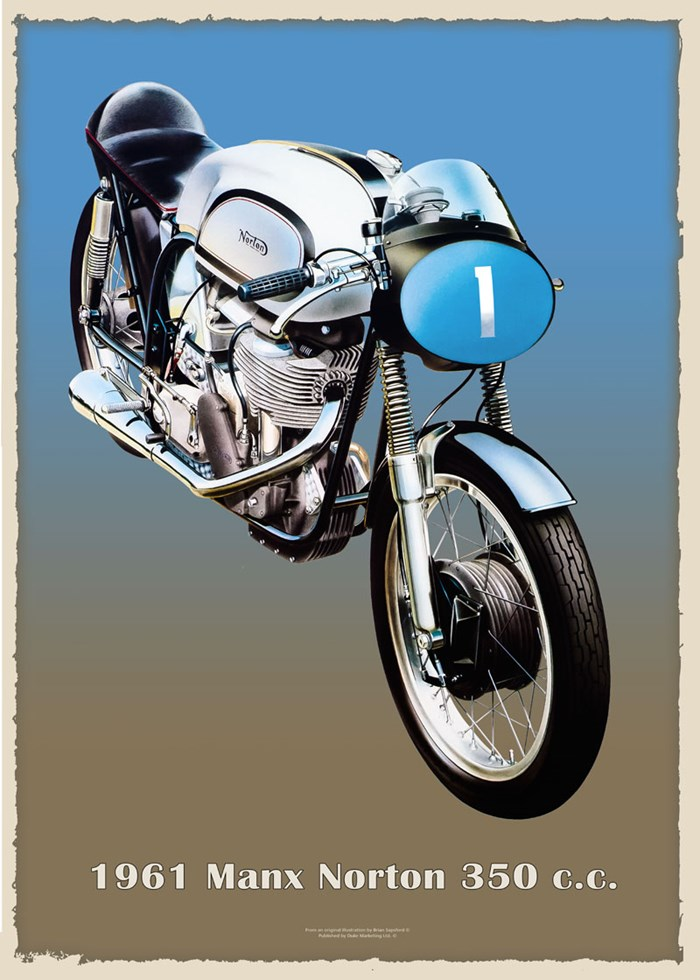 Manx Norton 1961 350cc Metal Sign - click to enlarge