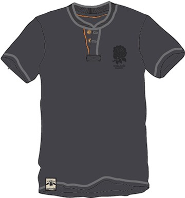 England Rugby Heritage Mandarin Collar t-shirt - click to enlarge
