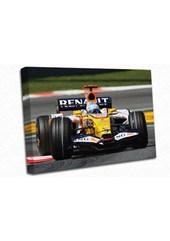Fernando Alonso Renault AO Canvas Print