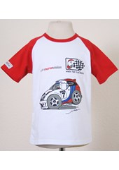 Colin Mcrae Childs T Shirt White/Red