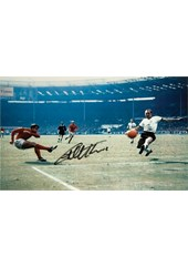 Geoff Hurst 1966 World Cup Final Signed Unframed Photography