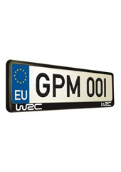 World Rally Championship 1 Number Plate Surround
