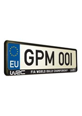 World Rally Championship 3 Number Plate Surround