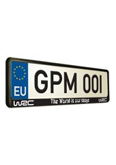 World Rally Championship 8 World's our Stage Number Plate Surround