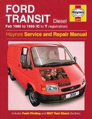 Ford Transit Diesel (feb 86 - 99) C to T Book