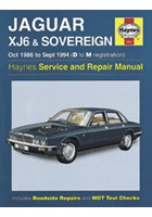 Jaguar XJ6 & Sovereign (oct 86 - Sept 94) D to M Book