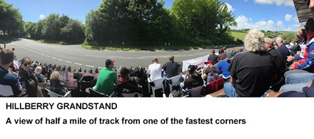 Hillberry Grandstand - Isle of Man TT 2019 - click to enlarge