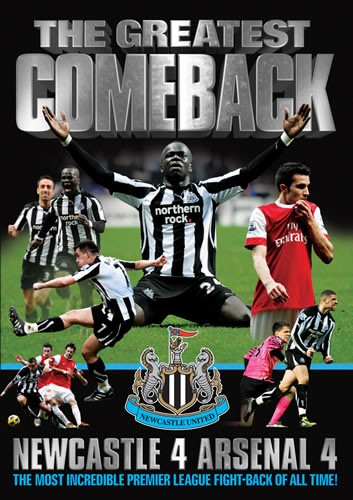 Newcastle United 4-4 Arsenal (DVD) - click to enlarge