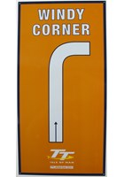 Windy Corner Replica TT Corner Sign