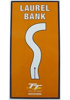 Laurel Bank Replica TT Corner Sign