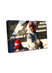 Jenson Button Podium Melbourne A3 Canvas Print