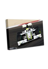 Jenson Button 2009 Bahrain GP A0 Canvas Print