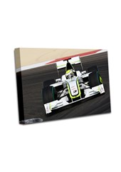 Jenson Button 2009 Bahrain GP A3 Canvas Print