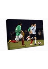 Lionel Messi A0 Canvas Print