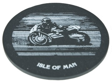 Bike Slate Coaster Small - click to enlarge