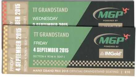 Manx Grand Prix 2015 Grandstand Tickets