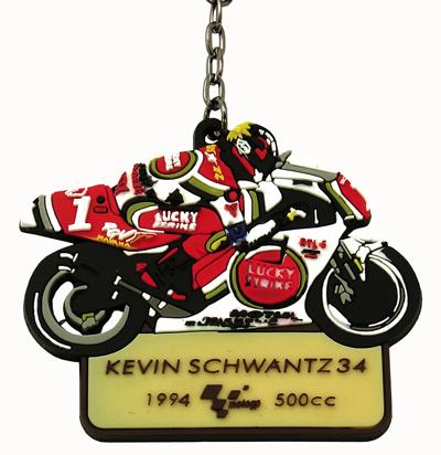 MotoGP Legends Key Fob Kevin Schwantz #34 - click to enlarge
