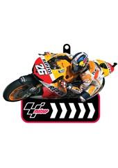 MotoGP Printed PVC Keyfob - Pedrosa  #26