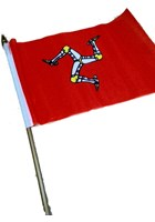 Small Manx Flag 9'' x 6''
