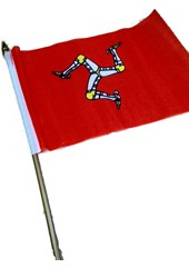Small Manx Flag 9'' x 6''