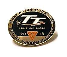Manx National Heritage 2018 TT Pin Badge