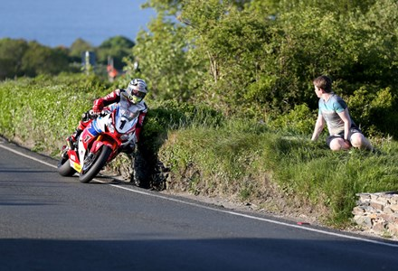 John McGuinness Tower Bends TT 2016. - click to enlarge