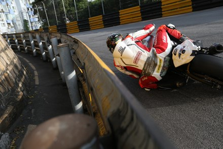 Peter Hickman at the Macau Grand Prix  2015