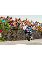 Michael Dunlop winning TT 2018 Superbike Race Print