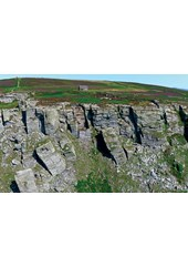 The Chasms - Isle of Man From the Air - Print