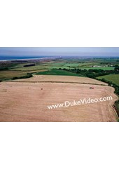 Baling Silage at Smeale - Isle of Man From the Air - Print