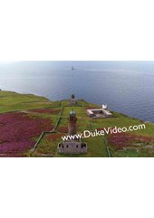 Calf of Man Lighthouses - Isle of Man From The Air - Print