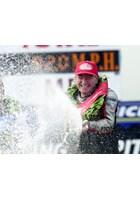 Joey Dunlop Celebrates Lightweight Win TT 2000
