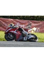 Ian Lougher Sulby Bridge Superbike Practice TT 2009