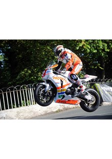 John McGuinness Ballaugh Bridge TT 2010