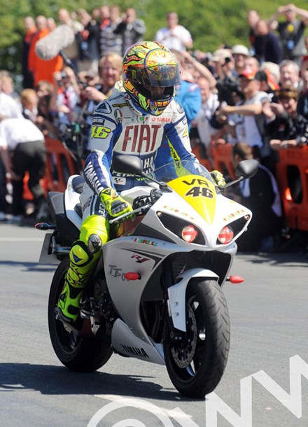 Rossi TT 2009 parade lap  - click to enlarge
