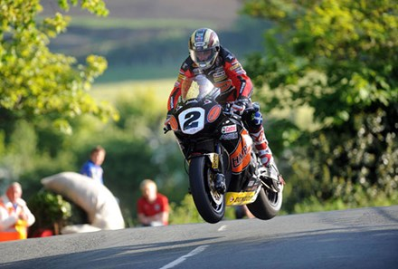 John McGuinness Superbike Ballaugh Bridge TT 2010