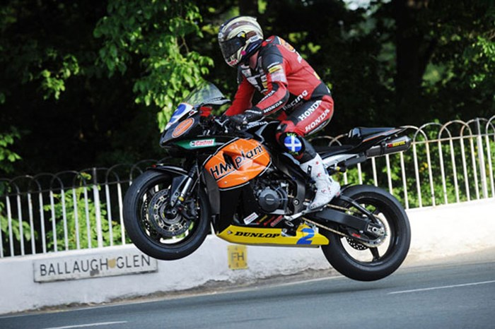 John McGuinness Ballaugh Bridge Supersport Practice  - click to enlarge