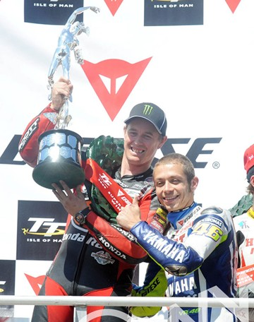 Rossi & McGuinness TT2009 Superbike Trophy  - click to enlarge