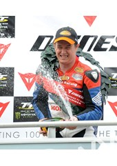 John McGuinness TT 2011 Superbike Race Champagne