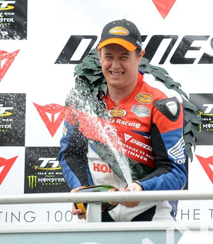 John McGuinness TT 2011 Superbike Race Champagne - click to enlarge